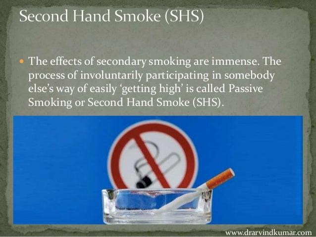 secondary smoking risks