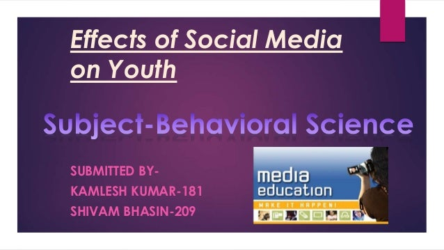 social medias effect on children