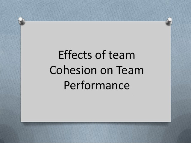 Effects of teamCohesion on Team  Performance