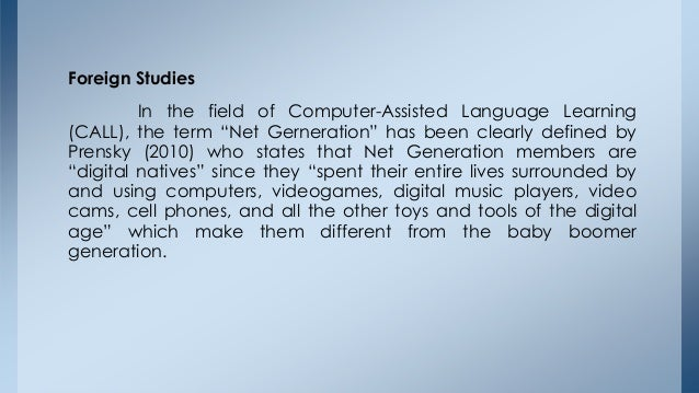 Effects of computer games to students