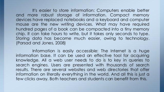 Technology of computer essay