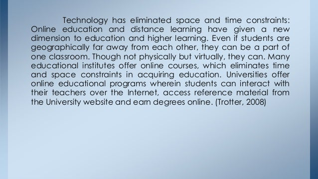 Essay about educational technology