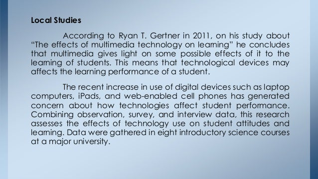 Factors that affecting academic performance of students using modern gadgets