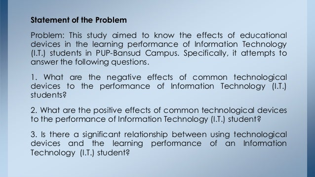 effect of ict on the academic performance of students The impact of information and communication technology (ict)  for effective performance by academic  of information and communication technology on.