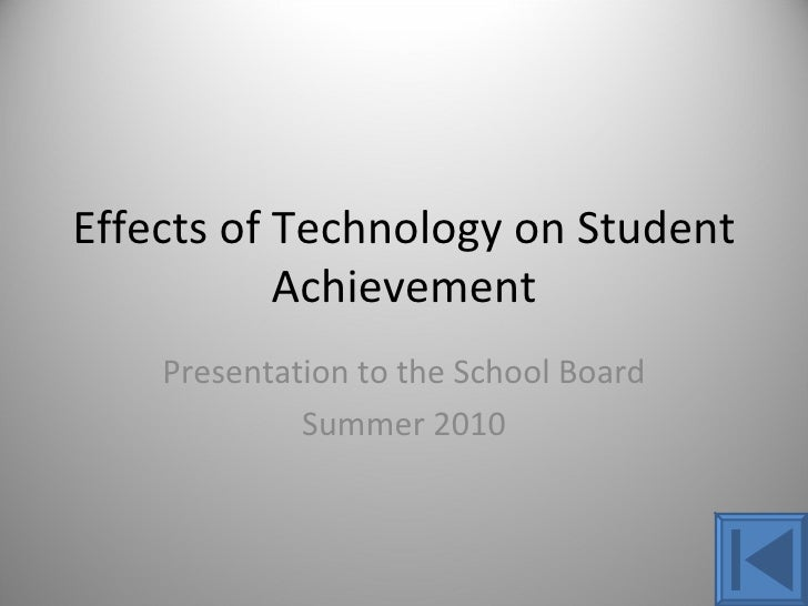 essay on impact of technology on students