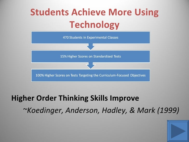 impact of technology on student achievement Abstract the purpose of this study was to examine the effects of the use of technology on students' mathematics achievement, particularly the florida comprehensive assessment test (fcat) mathematics results.