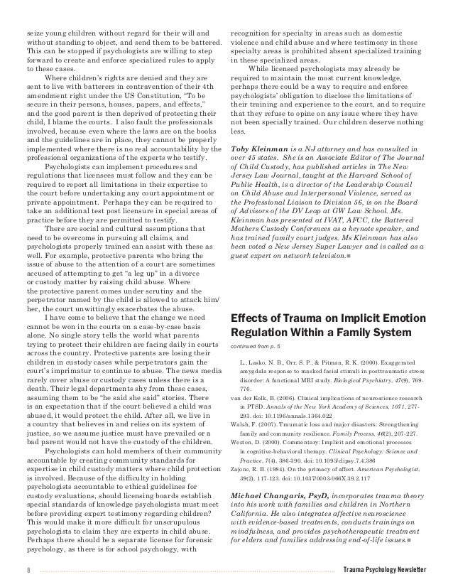 the effects of ptsd on families essay The definition of post-traumatic stress disorder  to helping veterans and their families cope with their ptsd  effects of post-traumatic stress disorder.