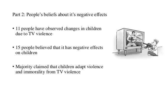 An essay on television violence and effects on children