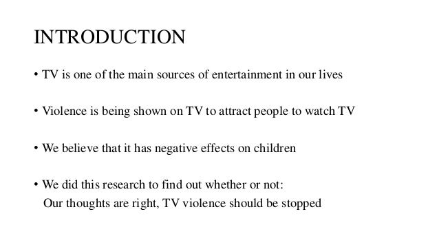 impact of television violence on children essay Violence on television research papers explore the effects on children purchase custom college term papers now.
