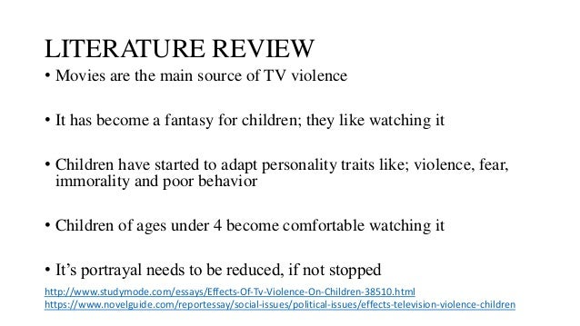 the impact of television violence on our children Can television influence your child's behaviour  done with children to test the impact of media violence  impact television advertising has on children has.