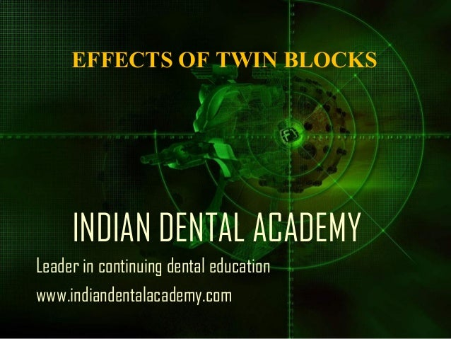 EFFECTS OF TWIN BLOCKS  INDIAN DENTAL ACADEMY Leader in continuing dental education www.indiandentalacademy.com