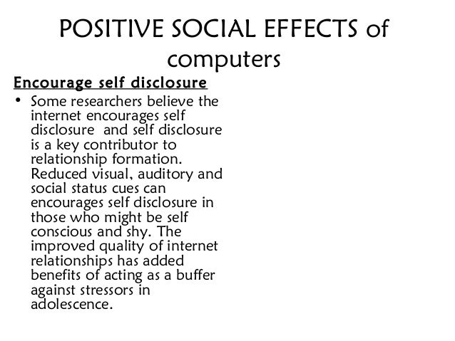 negative aspects of the internet essays Free college essay the positive and negative social aspects of the internet the positive and negative social aspects of the internet the internet is a magnificent.