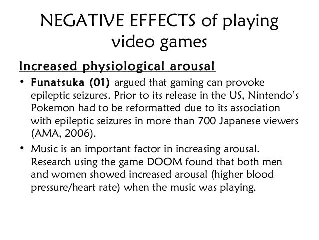 negative effects of videogames on education
