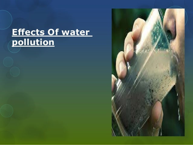 financial implications of water pollution These climate changes lead to serious environmental effects such as lower water supply and more pollution  what is environmental implications.