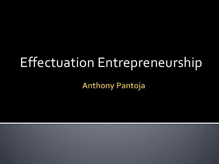 Effectuation Entrepreneurship
