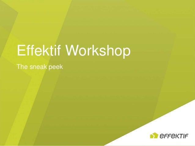 Effektif WorkshopThe sneak peek