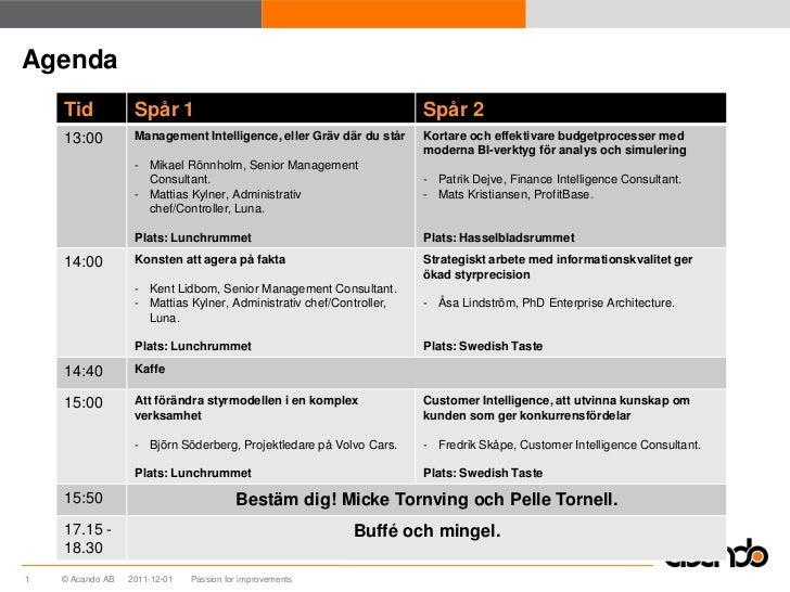 Effektiv budgetprocess med moderna verktyg Slide 2