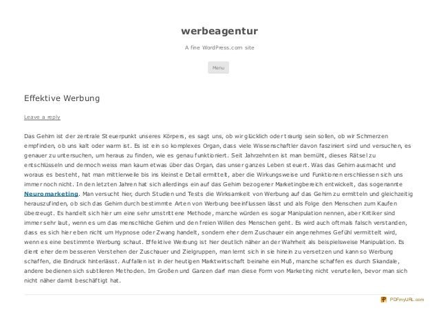 werbeagentur                                                             A fine WordPress.com site                        ...