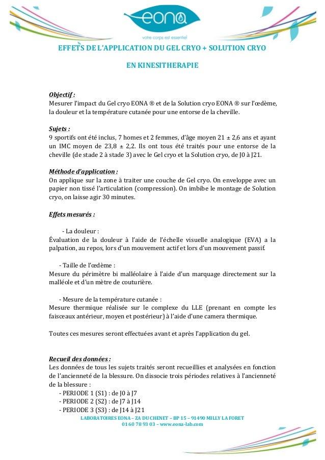 LABORATOIRES  EONA  –  ZA  DU  CHENET  –  BP  15  –  91490  MILLY  LA  FORET   01  60  7...