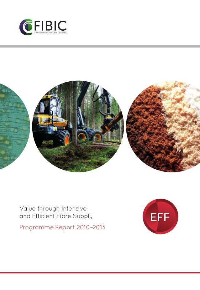 Ohjelmatunnukset  Value through Intensive and Efficient Fibre Supply Programme Report 2010–2013