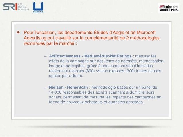 Pour l'occasion, les départements Études d'Aegis et de MicrosoftAdvertising ont travaillé sur la complémentarité de 2 méth...