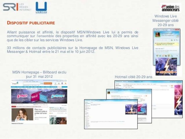 Windows Live                                                                                          Messenger cibléDISPO...