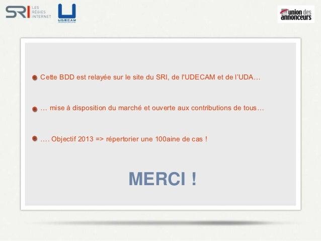 Efficacités du marketing numérique - SRI - UDA - Décembre 2012