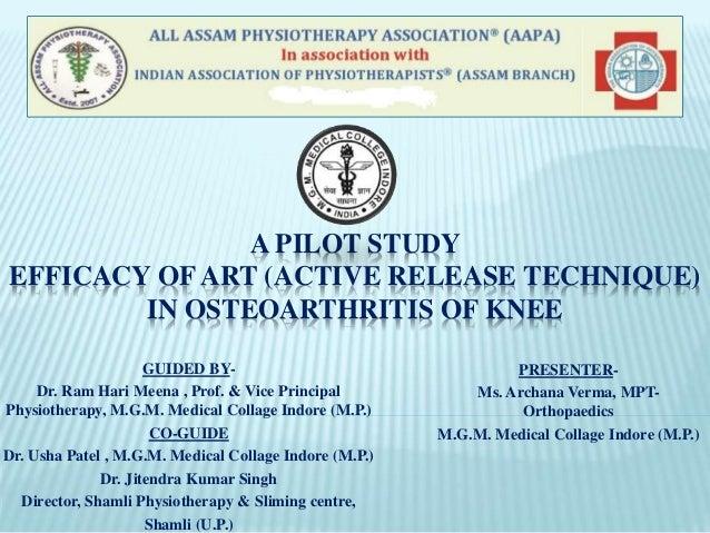Efficacy of art (active release technique) in osteoarthritis of knee …