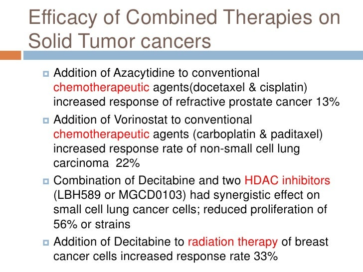 Efficacy Of Epigenetic Therapy As Cancer Treatment
