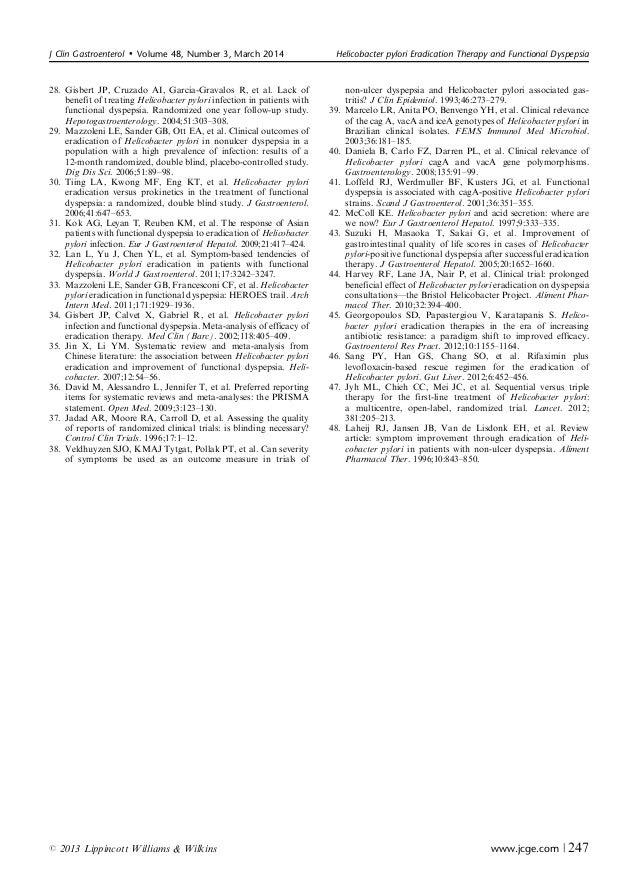 Dissertation gastritis helicobacter pylori