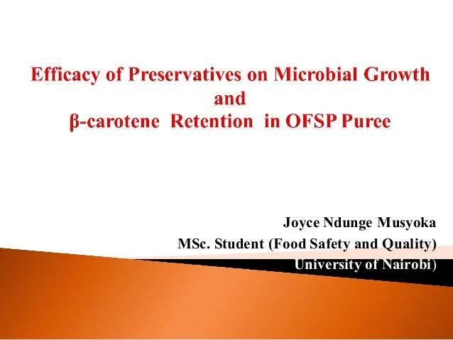 Joyce Ndunge Musyoka MSc. Student (Food Safety and Quality) (University of Nairobi)
