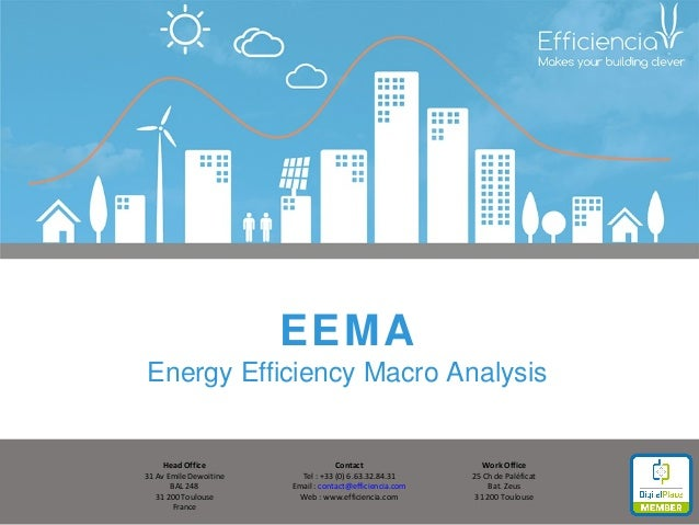 EEMA Energy Efficiency Macro Analysis Head Office 31 Av Emile Dewoitine BAL 248 31 200 Toulouse France Work Office 25 Ch d...