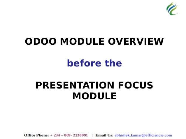Efficiencie solutions odoo erp presentation