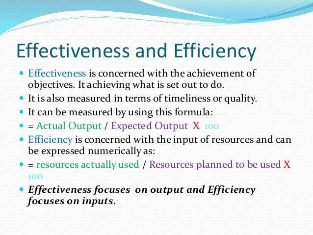 What Is Efficiency >> Efficiency