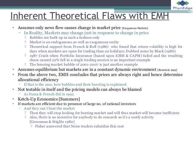 Efficient Market Hypothesis - Essay Example