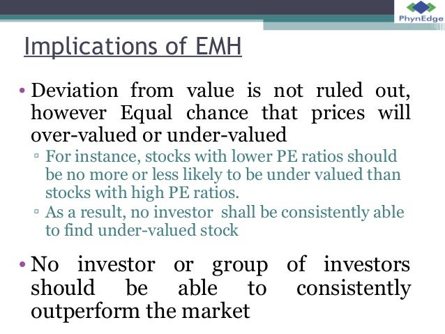 efficient market hypthesis The efficient market hypothesis & the random walk theory gary karz, cfa host of investorhome founder, proficient investment management, llc an issue that is the subject of intense debate among academics and financial professionals is the efficient market hypothesis (emh.