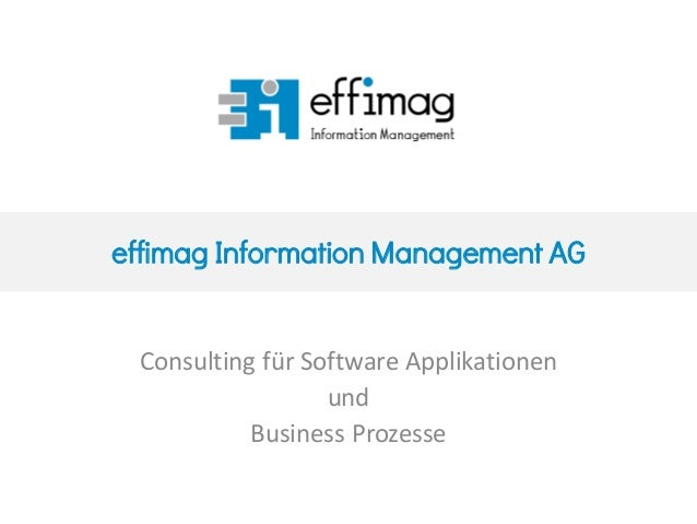 effimag Information Management AG Consulting für Software Applikationen und Business Prozesse