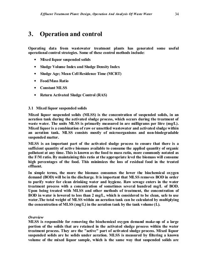 effluent treatment plant design operation and analysis of waste wate rh slideshare net Water Treatment Plant Potable Water Treatment