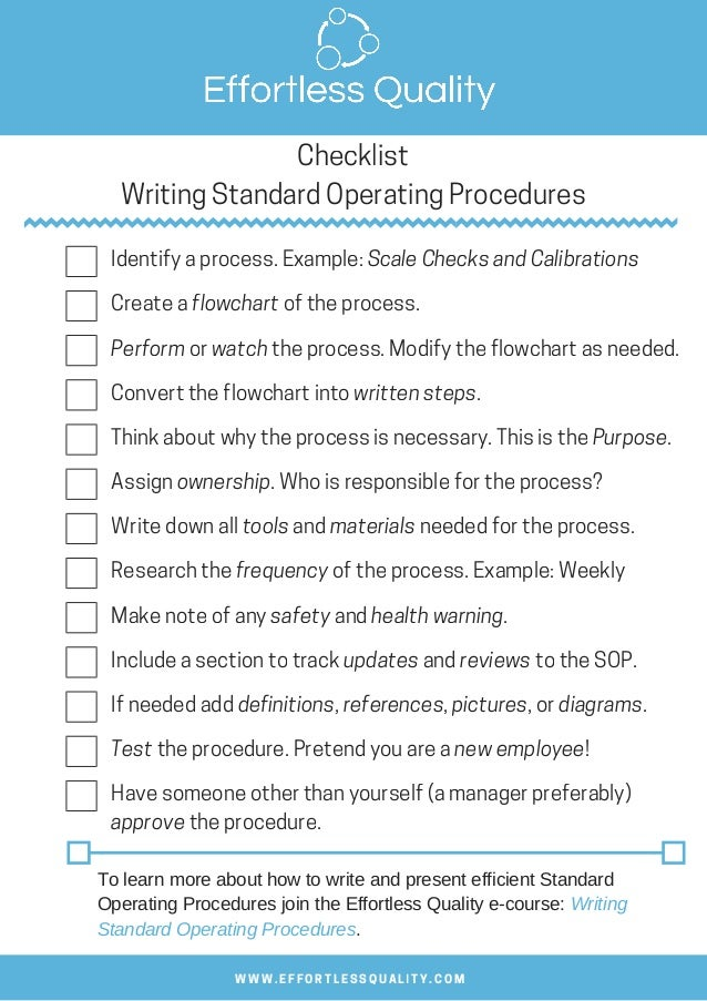 Standard operating procedures stock photos