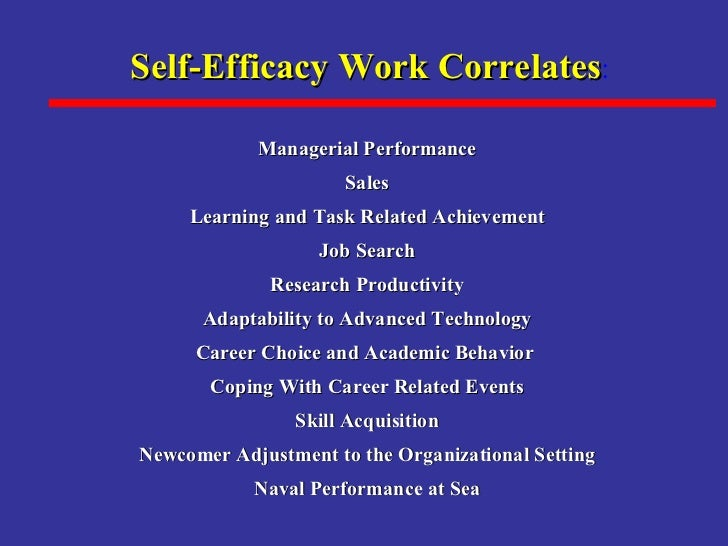 self efficacy and academic performance The influence of parenting styles, achievement motivation, and self-efficacy on academic performance in college students erlanger a turner megan chandler.