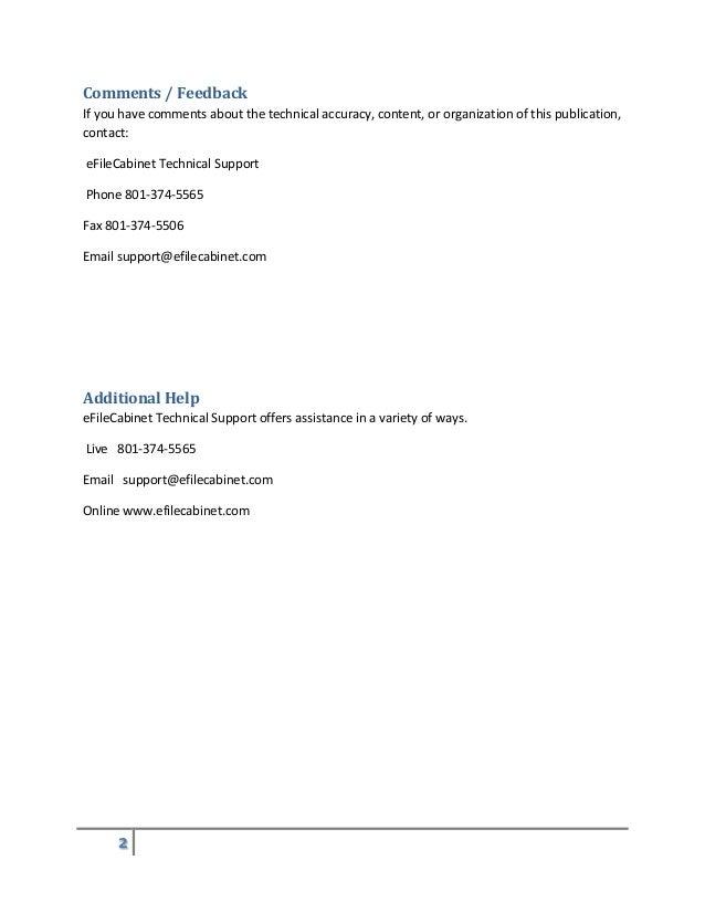 eFileCabinet 5 Desktop Basic Getting Started Guide