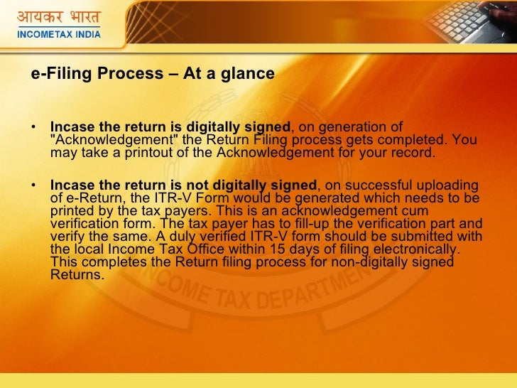 how to efile income tax return in india