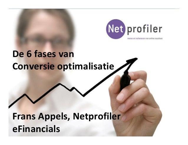 De 6 fases van Conversie optimalisatie Frans Appels, Netprofiler eFinancials