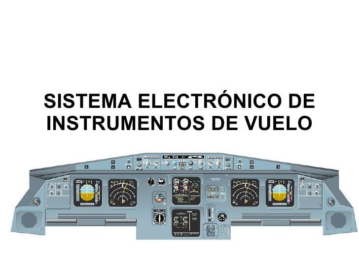 SISTEMA ELECTRÓNICO DE INSTRUMENTOS DE VUELO EFIS