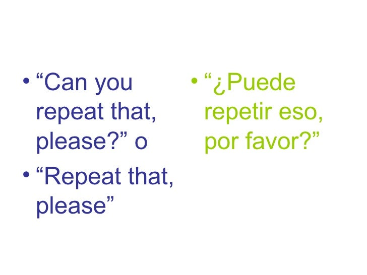 EFL survival expressions for Spanish students 5