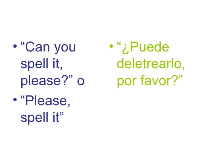 EFL survival expressions for Spanish students 6