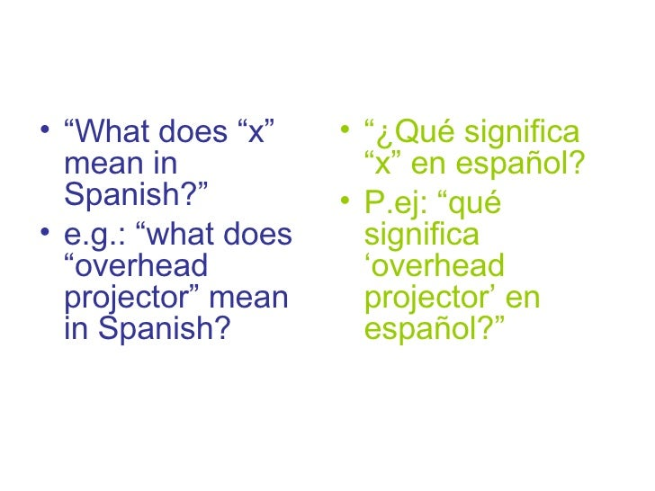 EFL survival expressions for Spanish students 9