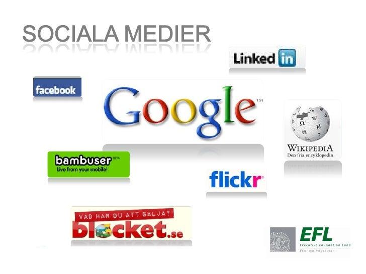 Sociala medier<br />