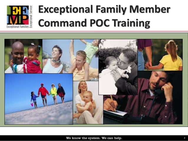 Exceptional Family Member  Command POC Training  1