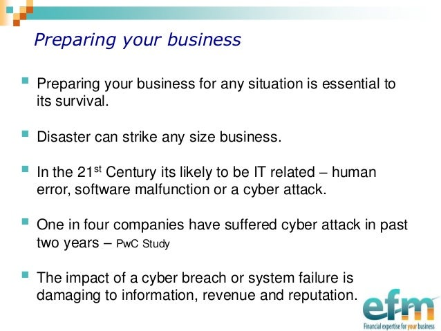 Cyber attacks and your business continuity plans - Plan4continuity Blog